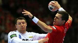 I Danmarks sejr på 28-17 over Østrig blev Rasmus Lauge kåret til kampens spiller.