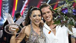 """Sarah Mahfoud og Morten Kjeldgaard vandt i 2016 finalen i danseprogrammet """"Vild med Dans"""", og hun får brug for de hurtige fødder igen fredag aften, når hun skal bokse i Nykøbing Falster."""