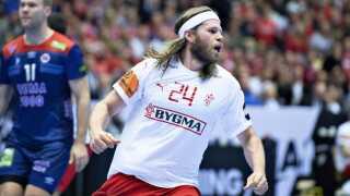 Mikkel Hansen of Denmark jubilates during the men's IHF Handball World Championship gold medal match between Denmark and Norway in Herning, Denmark, Sunday, Jan. 27, 2019.. (Foto: Henning Bagger/Ritzau Scanpix)