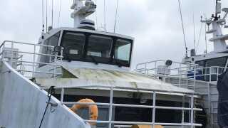 De to engelske skibe har ligget ubrugt i Svendborg Havn siden 2015.