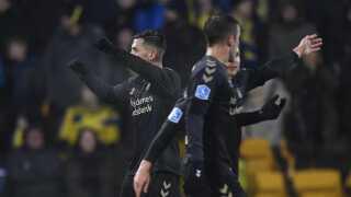 Mikael Uhre bragte Brøndby i front med 2-1 i anden halvleg.