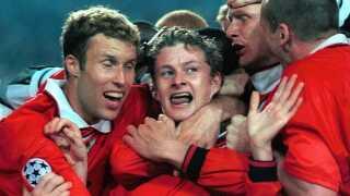 Ole Gunnar Solskjær blev helten, da Manchester United i 1999 på en sen 2-1-scoring af nordmanden vandt Champions League-finalen over Bayern München.