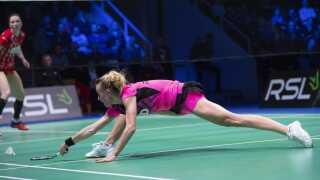 Mia Blichfeldt tabte DM-finalen til Line Kjærsgeldt lørdag d. 9. februar.
