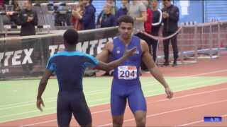 Kojo Musah sikrerede sig deltagelse ved EM efter sin præstation i mændenes 60 meter.