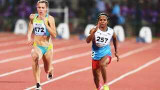 Den indiske sprinter Dutee Chand har ikke opnået så store resultater som Semenya.