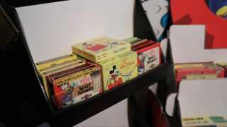 Samlingen rummer også gamle smalfilmskopier af tegnefilm.