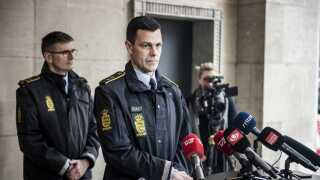 Brian Belling, leder af afdeling for personfarlig kriminalitet ved Københavns Politi, oplyste på dagens pressemøde, at en 26 årig mand nu er sigtet for drab på tre ældre mennesker i et boligkompleks i København. (Foto: Celina Dahl/Scanpix 2019)