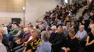 Bornholmerne kom også til orde på gårsdagens møde, hvor de kunne stille spørgsmål til en række paneldeltagere bestående af blandt andet repræsentanter fra vindmølleindustrien og Danmarks Naturfredningsforening.
