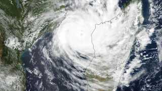 Cyklonen Idai ramte Mozambique, Malawi og Zimbabwe.