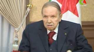 Abdelaziz Bouteflika under et møde i begyndelsen af marts.