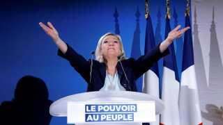 Rassemblement National er ledet af Marine Le Pen og hed tidligere Front National.