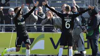 Randers FC's André Rømer (th.) blev matchvinder.