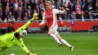 Kasper Dolberg kom på tavlen for Ajax.