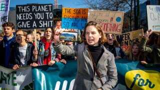 Greta Thunbergs klimastrejke har inspireret millioner af børn og unge i hele verden. Her er det belgiske unge, der demonstrerer for flere klimatiltag.