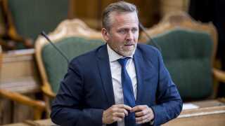 Anders Samuelsen (LA) forud for  åbningsdebatten i Folketinget den 4. oktober i fjor.