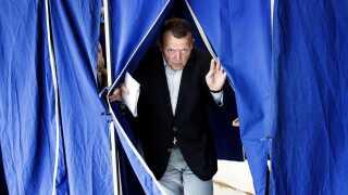 Her er det statsminister Lars Løkke Rasmussen (V), der stemmer ved EP-valget for fem år siden.