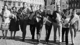 Her demonstrerer EF-tilhængere i København i 1972.