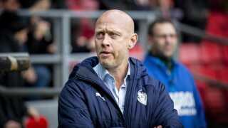 Hobro IKs Cheftræner Peter Sørensen under superligakampen mellem FC København-Hobro i Teliaparken, søndag den 17. marts 2019.. (Foto: Liselotte Sabroe/Ritzau Scanpix)
