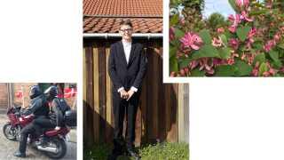 Magnus blev konfirmeret søndag den 12. maj. Han blev hentet af sin morfar på motorcykel efter konfirmationen i kirken. Blomstergrenene blev brugt som bordpynt i festteltet i haven.