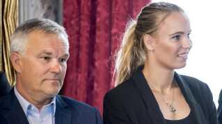 Piotr Wozniacki og Caroline Wozniacki.