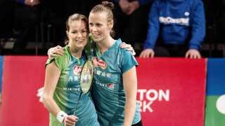 Christinna Pedersen (til venstre) og Kamilla Rytter Juhl har lavet en aftale med Vendsyssel Elite Badminton for næste sæson.