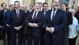 Trekløverregering under statsminister Lars Løkke Rasmussen blev præsenteret på Amalienborg Slotsplads mandag d.28. november 2016.