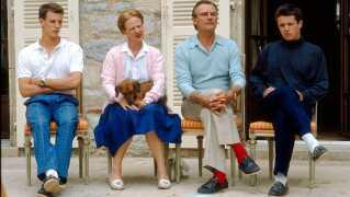 Pressemøde på Chateaux Caix efter prinserne kørte galt i Frankrig i 1988.