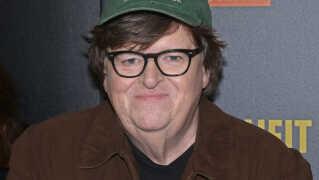 Michael Moore til premieren på filmen i New York i september.