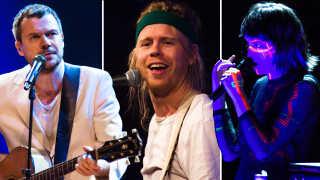 Peter Sommer (tv.), norske Kakkmaddafakka og Lydmor (th.) var blandt navnene til lørdagens P6 Beat Rocker Koncerthuset 2019.