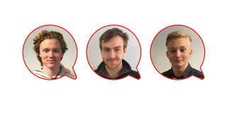 Tre kommende håndværkere tvivler på, at kroppen holder hele vejen til pensionen. På billeder ses Albert Jacobsen Eeg, Stefan Fusager og August Lassen