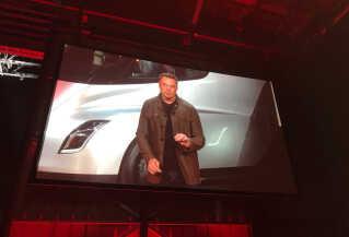 Teslas grundlægger, Elon Musk, under den store præsentation.