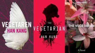 'Vegetaren's temaer afspejler sig på forskellig vis på forsiderne af både den danske og engelske version af bogen.