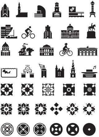 Med skrifttypen følger også en række symboler, der forestiller Københavns vartegn og ornamenter, som er inspireret af Københavns Rådhus.