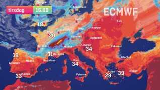Er du til 30 graders varme, skal du stikke til Sydeuropa , Balkan eller et af de østeuropæiske lande.