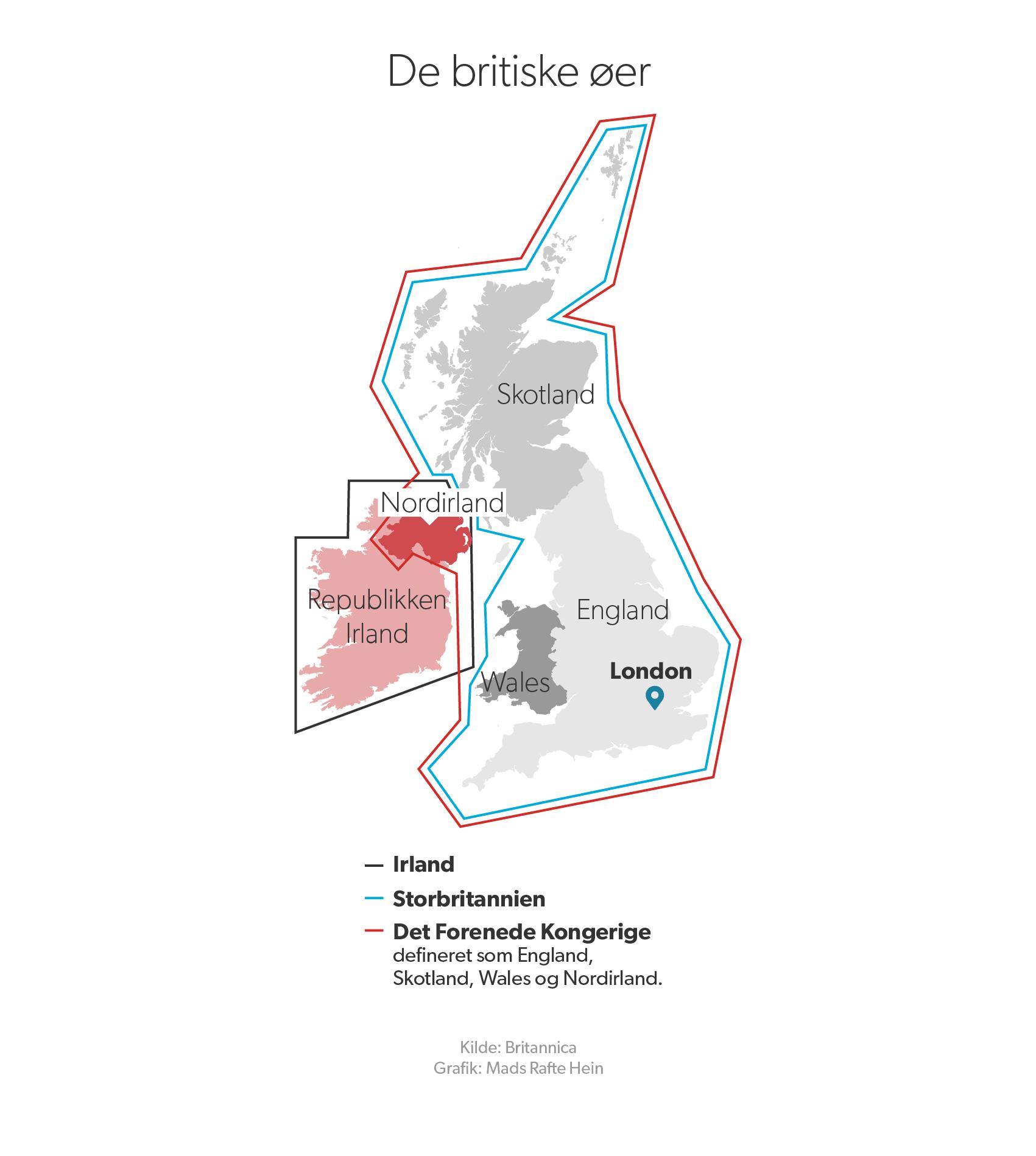 Nordirland er en del af Det Forenede Kongerige sammen med Wales, Skotland og England.