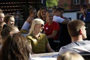 """Der var i alt 30 deltagere til det første Aarhus-arrangement for unge """"Lemvig'ere""""."""