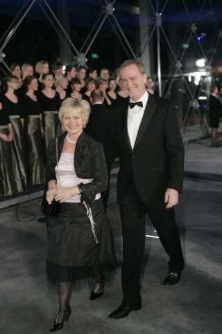 Kultur-Danmark var også inviteret - her Keld og Hilda Heick. Keld Heick har selv været ansat i DR ad flere omgange, både som radio- og TV-vært. Han var det frem til 1. januar 2019.