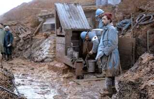 Skyttegravene ved Vestfronten under 1. verdenskrig i farver.