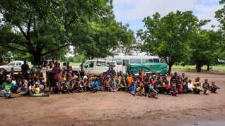 De danske skoleelever blev overrasket over, hvor mange børn, der var i de forskellige flygtningecamps.