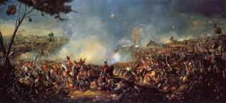 Tidligere valgfartede folk til Waterloo i Belgien for at se det sted, hvor Napoleon i 1815 kæmpede sit sidste slag. I dag er Normandiet, hvor D-dag fandt sted i 1944, særligt populært.  Slaget ved Waterloo er her gengivet af den irske maler William Sadler II.