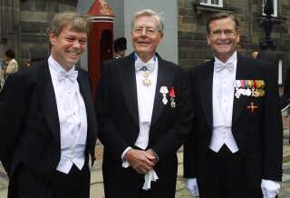 Anders Torbøl til venstre. Han kendte prinsen fra sit arbejde i Dansk-Fransk Handelskammer
