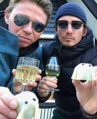 Stanislav Sevcik (tv.) og Aske Bang står bag ideen til 'Welcome to the Moon'.