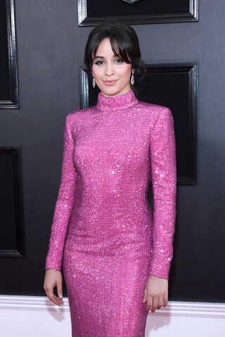 Camila Cabello var hoppet i denne lyserøde sag i aftenens anledning.