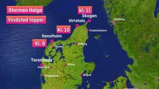 Helga siger farvel til Skagen og Danmark før frokost.
