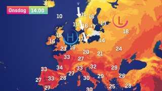 Kølig luft fra nord og nordvest strømmer ned over landet onsdag - men der bliver til gengæld god plads til solen.
