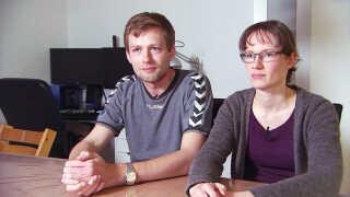 Ægteparret Morten og Mette Bjerkvig Jølnæs i deres hjem.