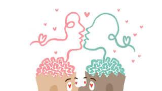 Dopamin er også et af de stoffer, hjernen udskiller, når vi for eksempel kysser.
