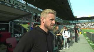 Den danske landsholdsmålmand var i dag på besøg i Farum, da FC Nordsjælland spillede sæsonfinale.