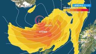 Lørdagsstorm på Færøerne