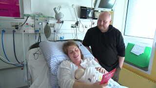 Astrid Laursen og Jakob Bennick Jeppesen er lige blevet forældre for første gang.
